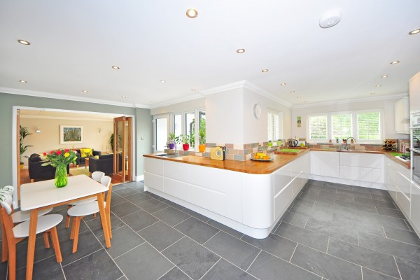 Open plan kitchen property refurb